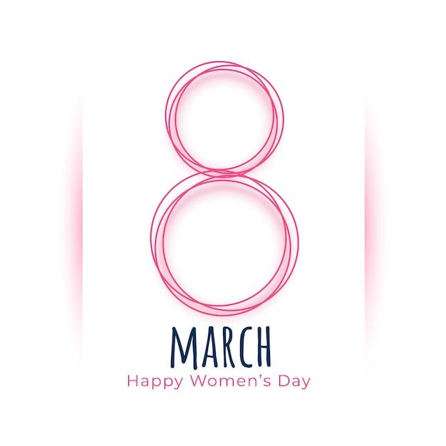 Lovely march international womens day celebration card