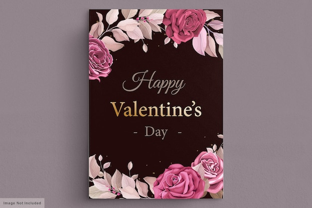 Lovely maroon valentine's day card template