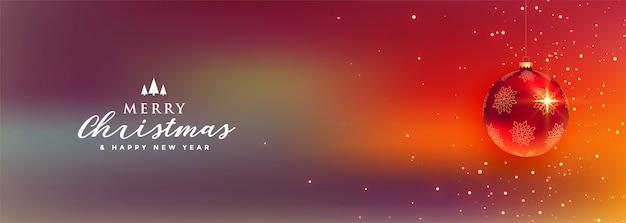 Lovely merry christmas festival banner