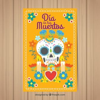 Прекрасный мексиканский шаблон плаката для вечеринок