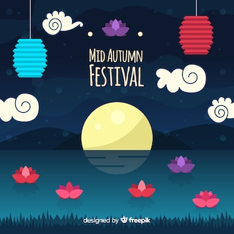 Lovely mid autumn festival background