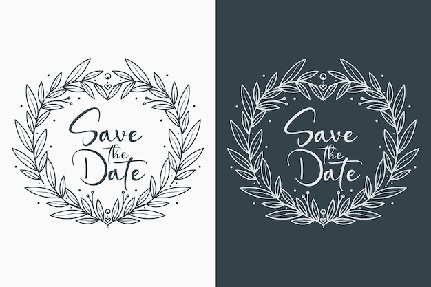 Lovely and minimal floral wedding badges
