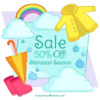 Lovely monsoon season sale composition