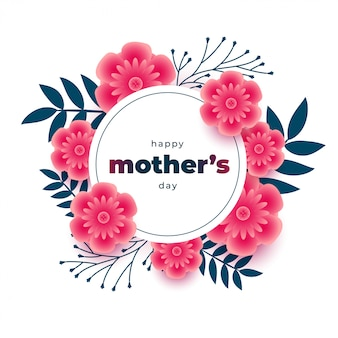 Lovely mothers day background with flower frame decoration