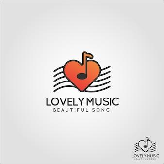 Lovely music logo template