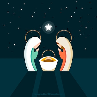 Lovely nativity scene