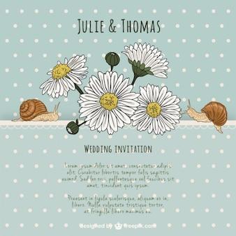 素敵な自然の結婚式の招待状