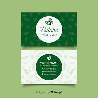 Lovely nature concept business card