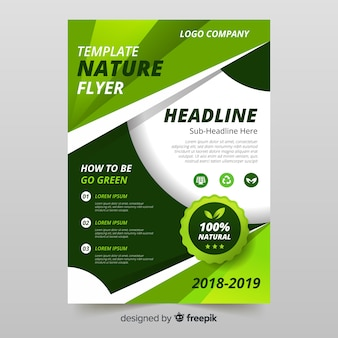Lovely nature flyer template