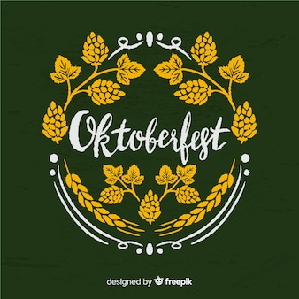 Lovely oktoberfest composition with blackboard style