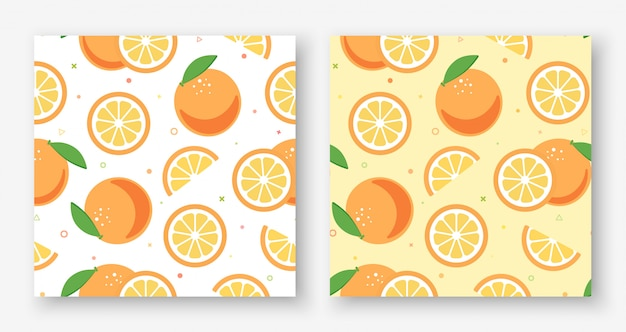 Прекрасный оранжевый белый и желтый бесшовные модели