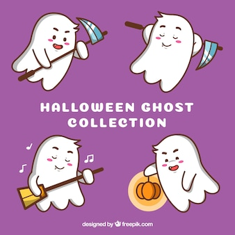 Lovely pack of funny ghosts