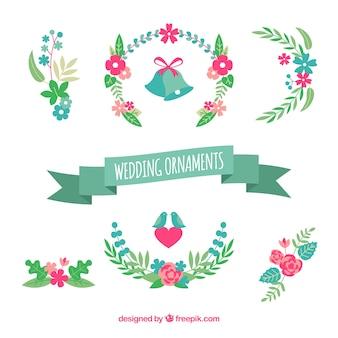 Прекрасная упаковка плоских свадебных украшений