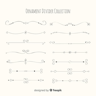 Lovely pack of hand drawn ornament dividers