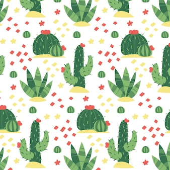 Lovely pattern with repetitive cactus