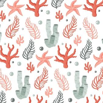 反復的なサンゴの素敵なパターン