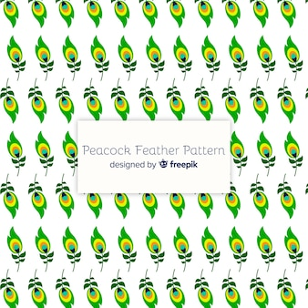 Lovely peacock feather pattern