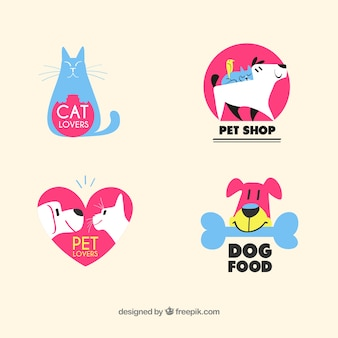Lovely pet shop logo collection