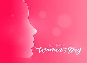 Lovely pink happy women's day background
