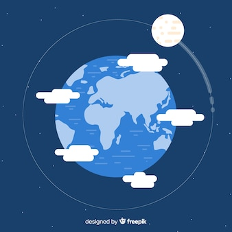 Lovely planet earth with flat design