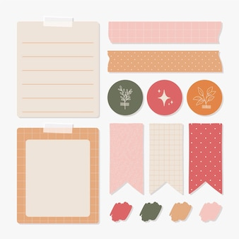Lovely planner scrapbook elements collection