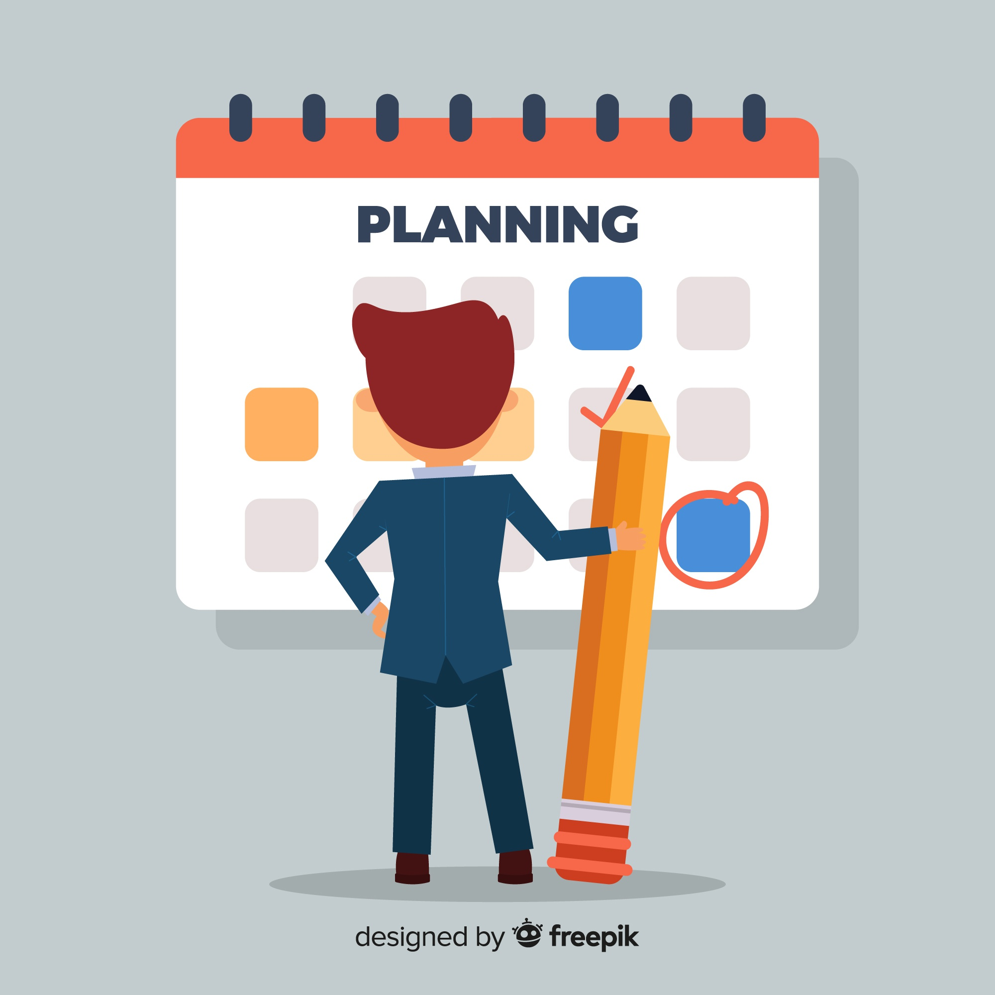 Lovely planning schedule concept