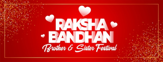 Lovely raksha bandhan indian festival banner