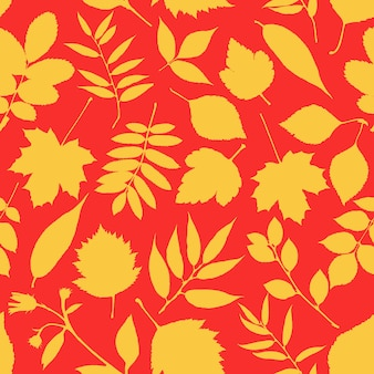 素敵な赤と黄色の葉のパターン