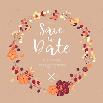 Lovely save the date template