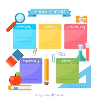 Modello di programma settimanale della scuola adorabile