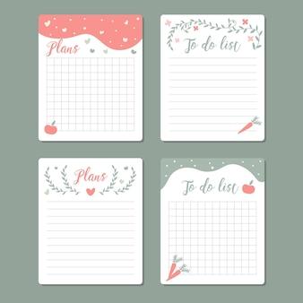 사랑스러운 스크랩북 노트와 카드 컬렉션