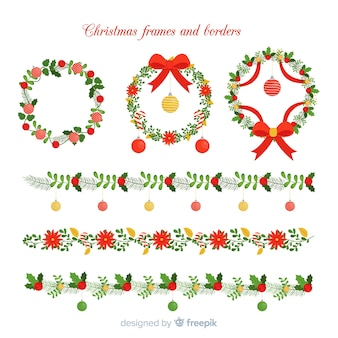 Lovely set of christmas borders and frames