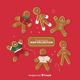 Lovely set of christmas ginger cookies