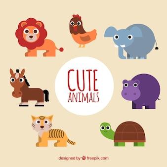 Lovely set of flat animals