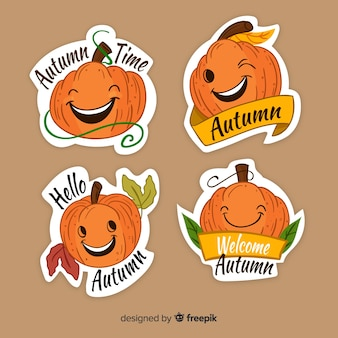 Lovely set of hand drawn autumn labels