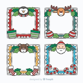 Lovely set of hand drawn christmas frames
