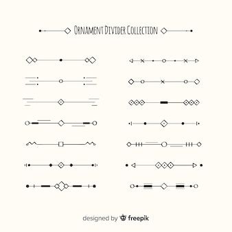Lovely set of hand drawn ornament dividers