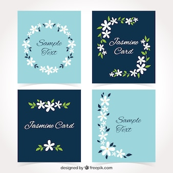 Lovely set of jasmine cards
