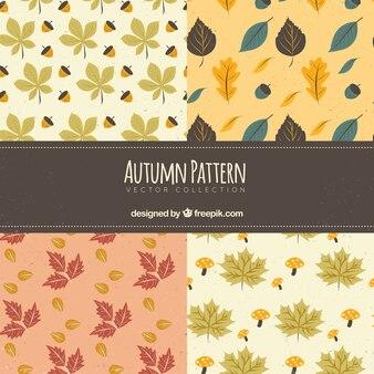 Lovely set of autumnal patterns