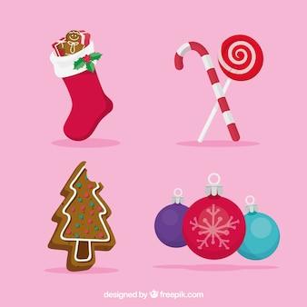 Прекрасный набор рождественских аксессуаров