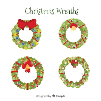 Lovely set of christmas floral wreaths