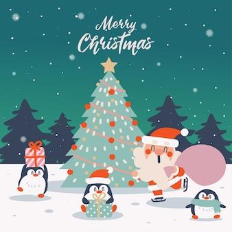 Прекрасный набор рождественских поздравительных элементов