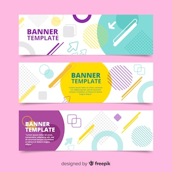 Lovely set of colorful banners