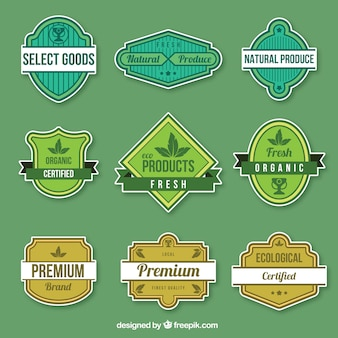 Lovely set of organic product badges