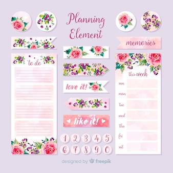 Lovely set of planning elements