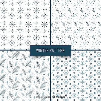素敵な冬のパターンのセット