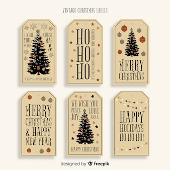 Lovely set of vintage christmas labels