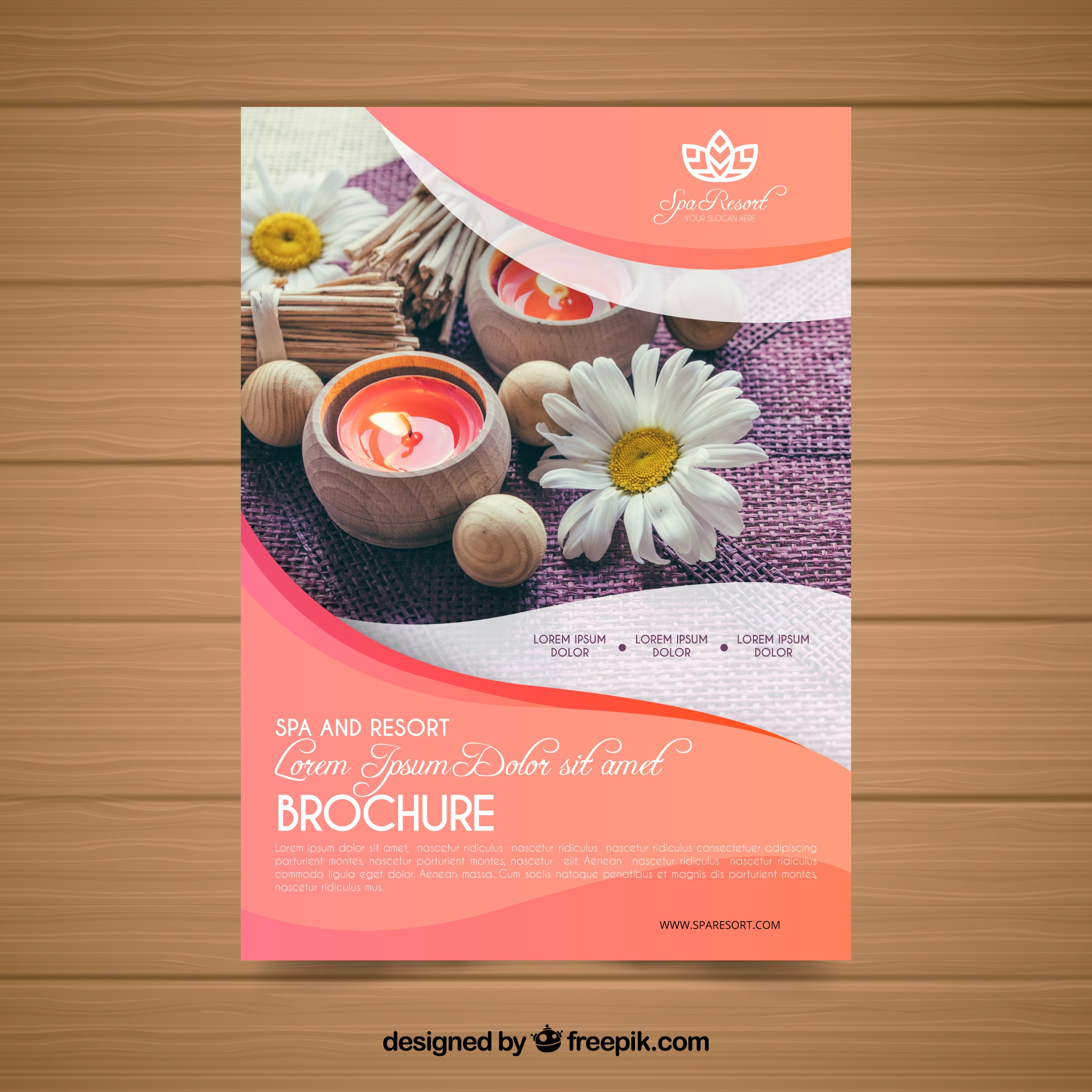 Lovely spa flyer template