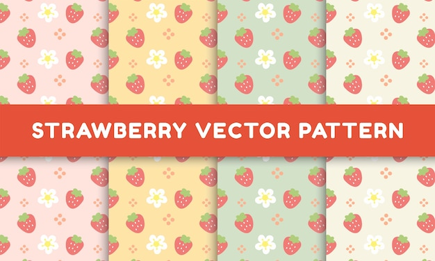 Lovely strawberry and flower pattern collection