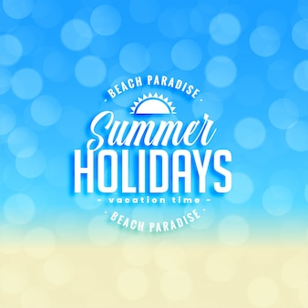 Lovely summer holidays background with bokeh effect